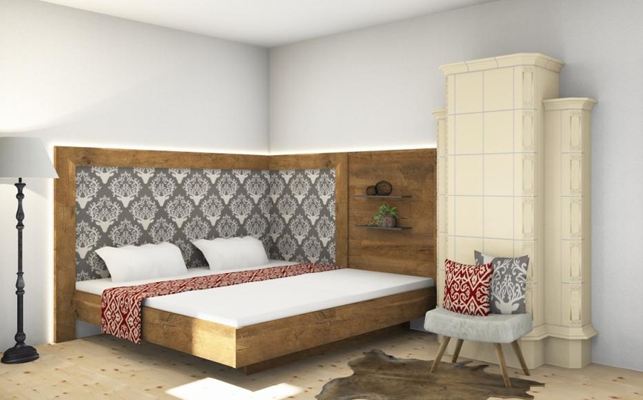 Schlafzimmer-Rendering